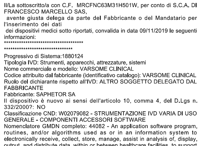 VarSome Clinical IVD ITaly